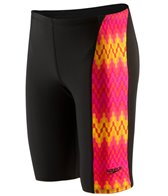 Speedo Flipturns Geo Genie Printed Jammer Swimsuit