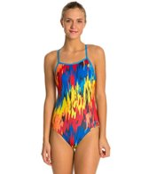 Speedo Turnz Painted Cameo One Back Swimsuit