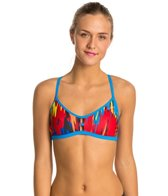 Speedo Turnz Printed Cameo Fixed Back Swimsuit Top