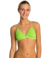 Speedo Turnz Solid Triangle Tie Back Top