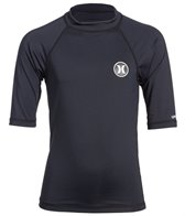 Hurley Boys' Icon Short Sleeve Rashguard (8yrs-16yrs)