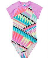 Seafolly Girls' Pool Party S/S Surf One Piece Swimsuit (8yrs-14yrs)