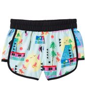 Seafolly Girls' Pool Party Palms Girls' Pool Shorts (8yrs-14yrs)