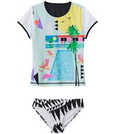 Seafolly Girls' Pool Party Rashguard Two Piece Set (8yrs-14yrs)