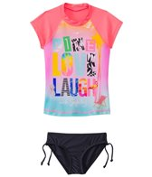 Seafolly Girls' Fun Run Live Love Laugh Rashguard Set (8yrs-14yrs)