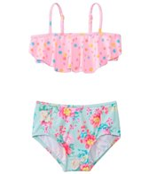 Seafolly Girls' Spring Bloom Mini Tube High Waist Bikini Set (2yrs-6yrs)