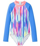 Seafolly Girls' Summer Daze Long Sleeve Rashguard One Piece (8yrs-14yrs)