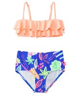 Seafolly Girls' Neon Pop Mini Tube High Waist Bikini Set (8yrs-16yrs)
