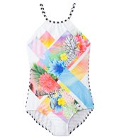 Seafolly Girls' Tropical Splice High Neck Tank One Piece (8yrs-14yrs)