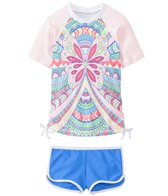 Seafolly Girls' Jewel Cove Rashguard Set (2yrs-6yrs)
