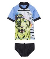 Tiger Joe Boys' Cosmic Jungle Rashguard Set (6mos-4yrs)