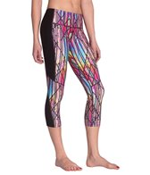MPG Women's Vitalize Printed Capri Yoga Pants