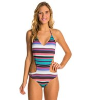 Roxy Livin Free Reversible V Neck One Piece Swimsuit