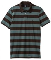 Volcom Men's Wowzer Stripe Short Sleeve Polo Shirt