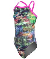 Waterpro Scenery Youth Thin Strap One Piece Swimsuit