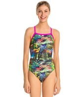 Waterpro Scenery Thin Strap One Piece Swimsuit