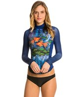 Girls4Sport Women's Pisces L/S Rashguard with Shelf Bra