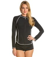 Girls4Sport L/S Full Zip Rashguard with Shelf Bra