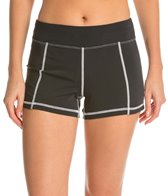 Girls4Sport Women's Black & White Swim Short