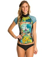Girls4Sport Women's Zen Garden S/S Rashguard with Shelf Bra
