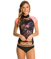 Girls4Sport Women's Bali S/S Rashguard with Shelf Bra
