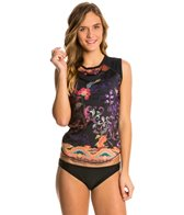 Girls4Sport Women's Bali Sleeveless Rashguard with Shelf Bra