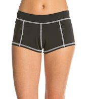 Girls4Sport Women's Solid Boyshorts with White Stitching