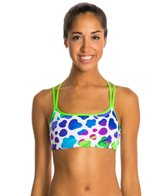 Funkita Blue Moo Criss Cross Sports Top