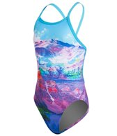 Funkita Swiss Bliss Girls Single Strap One Piece Swimsuit