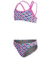 Funkita Zag Ziggler Girls Criss Cross Sports Two Piece