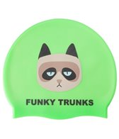 Funky Trunks Grumpy Cat Silicone Swim Cap