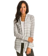 Pure Karma Striped Long Sleeve Cardigan