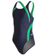 Speedo PowerFLEX Eco Taper Splice Pulse Back Youth Swimsuit