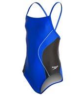 Speedo PowerFLEX Eco Revolve Splice Energy Back Youth Swimsuit