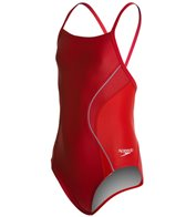 Speedo PowerFLEX Eco Revolve Splice Energy Back Youth Swimsuit