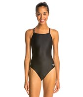 Speedo Women's PowerFLEX Eco Solid Flyback One Piece Swimsuit