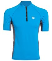 Howzit Men's Top Zip Short Sleeve Rashguard