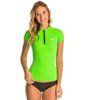 Howzit Women's Top Zip Short Sleeve Rashguard