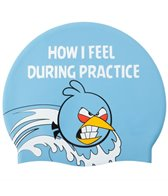 Angry Birds Practice Emotions Silicone Swim Cap