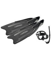 Cressi Gara Professional Long Fins, Mask, Snorkel and Bag Set