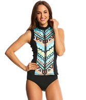 Seafolly Kasbah Scuba Zip Up Sleeveless Rashguard
