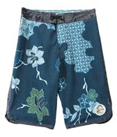 O'Neill Boys' Santa Cruz Original Scallop Print Boardshort (4yrs-7X)