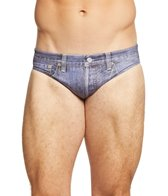 Turbo Men's Jeans Short Water Polo Brief