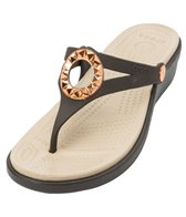 Crocs Women's Sanrah Studded Circle Wedge Flip Flop