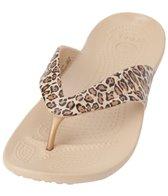 Crocs Women's Kaddee Leopard Print Flip Flop