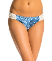 Jessica Simpson Indigo Crochet Side Shirred Hipster Bottom