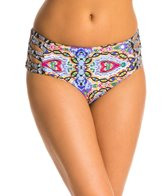 Red Carter Tropical Topaz Reversible Side Strap High Waist Bikini Bottom
