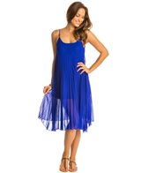 BLEU Rod Beattie Over the Edge Solid A-Line Pleated Cover Up Dress