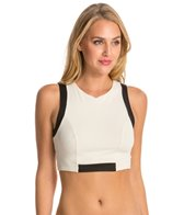 Vitamin A Opposites Attract Jaida Cropped Rash Guard Top