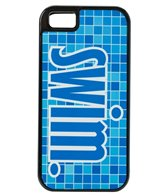Bay Six Swim Blue Pool Tile iPhone Phone Case